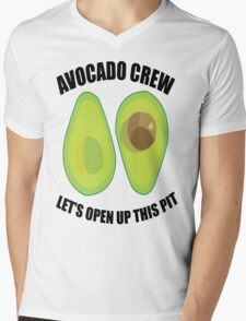 Avocado Crew Mens V-Neck T-Shirt