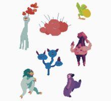 Cutie Monsters by hoodsandhats