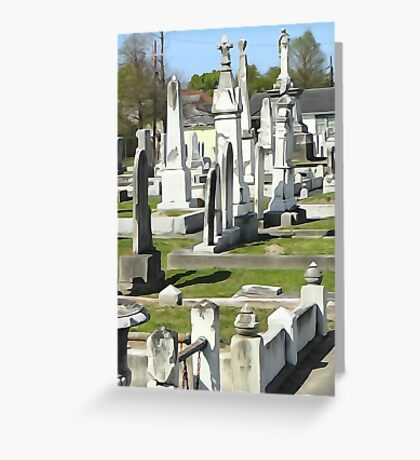 Canal St. Cemetery Greeting Card