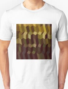 Caput Mortuum Brown Abstract Low Polygon Background T-Shirt