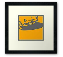 Fiat 600 Detail, 1956 - Yellow on Gray Framed Print