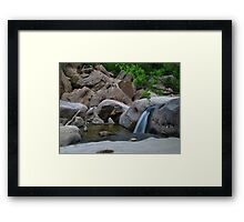 Cherry Creek Cascades Framed Print