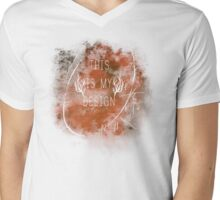 """This Is My Design"" Hannibal T-Shirt Mens V-Neck T-Shirt"