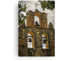 """Ramona - I Hear The Mission Bells Above"" - Mission Espada, San Antonio, Texas, USA Canvas Print"