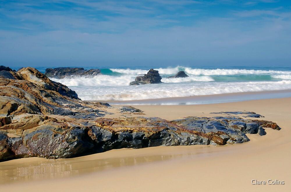 A pristine beach in NSW by Clare Colins
