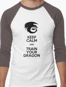 Keep calm and train your dragon Men's Baseball ¾ T-Shirt