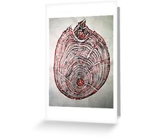 Wood Fossil IV - Subtle Red Greeting Card