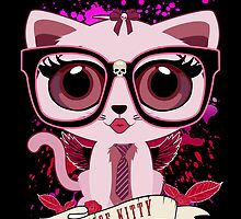 Nice Kitty - Black & PInk by Adamzworld
