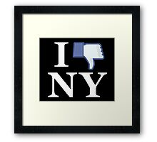 I Unlike NY - I Love NY - New York Framed Print