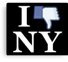 I Unlike NY - I Love NY - New York Canvas Print