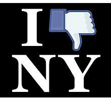 I Unlike NY - I Love NY - New York Photographic Print