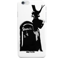 Piaggio Vespa GS front shield with logo black iPhone Case/Skin