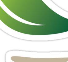 Green FootPrint Sticker