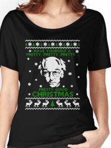 LARRY DAVID PRETTY GOOD CHRISTMAS UGLY SWEATER Women's Relaxed Fit T-Shirt