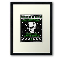 LARRY DAVID PRETTY GOOD CHRISTMAS UGLY SWEATER Framed Print