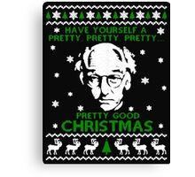 LARRY DAVID PRETTY GOOD CHRISTMAS UGLY SWEATER Canvas Print