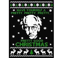 LARRY DAVID PRETTY GOOD CHRISTMAS UGLY SWEATER Photographic Print