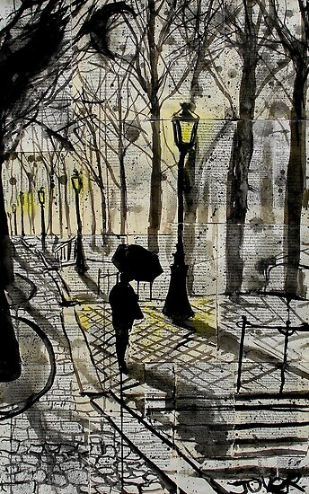 walking in montmartre  by Loui  Jover