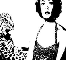 Gene Tierney Hangs Out With Leopard by Museenglish