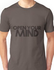 Open Your Mind (Black) Unisex T-Shirt
