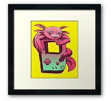 Axolotl Game Boy Framed Print
