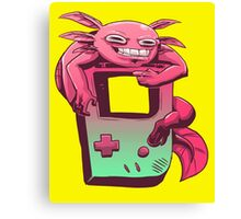 Axolotl Game Boy Canvas Print