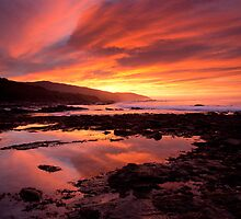 Fire in the Sky, Great Ocean Road by Cameron B