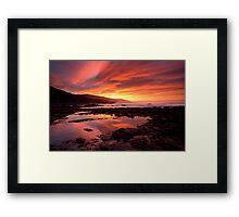 Fire in the Sky, Great Ocean Road Framed Print
