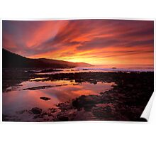 Fire in the Sky, Great Ocean Road Poster
