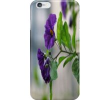 Solanum Rantonnetii With Garden Background iPhone Case/Skin