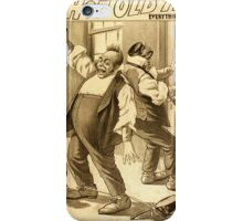 Vintage poster - A Hot Old Time iPhone Case/Skin