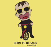 Born to be wild Baby - sunglasses and bike Kids Tee