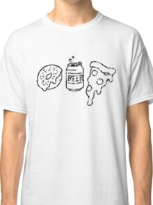 Donuts, Beer, and Pizza Classic T-Shirt
