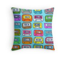 Collecting tapes in the 90s Throw Pillow