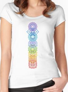 Your Inner Chakras Women's Fitted Scoop T-Shirt