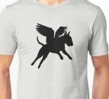 Bull Terrier--when pigs fly! Unisex T-Shirt