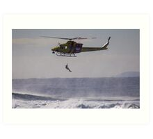 Newcastle & Westpac Helicopter Art Print