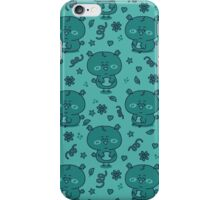 cute blue owls iPhone Case/Skin