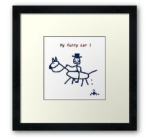 My furry car - Horse Art by Valentina Miletic Framed Print