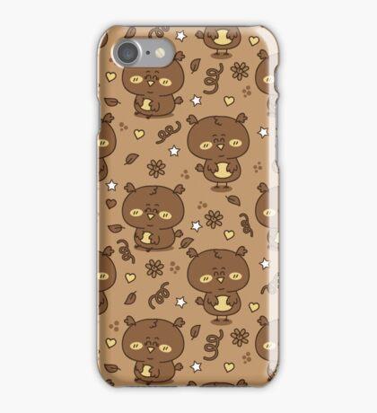 cute brown owls iPhone Case/Skin