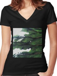 it's a green world Women's Fitted V-Neck T-Shirt