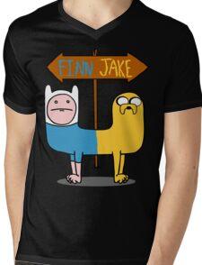 Finn & Jake- CatDog Mens V-Neck T-Shirt