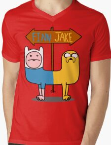 Finn & Jake- CatDog Mens V-Neck T-Shirt