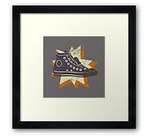 Retro High Tops Framed Print