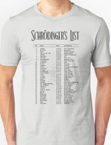 Schrödinger's List T-Shirt