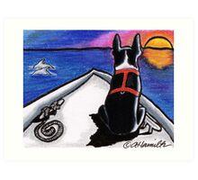 Boston Bow Sunset Art Print