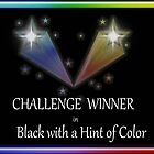 Challenge Winner in Black with a Hint of Color banner by debidabble
