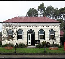 National Bank in Old Gippstown, Moe Gippsland by Bev Pascoe