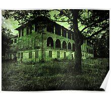 Insane Asylum  abandoned creepy spooky scary Halloween photography Poster