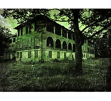 Insane Asylum  abandoned creepy spooky scary Halloween photography Photographic Print